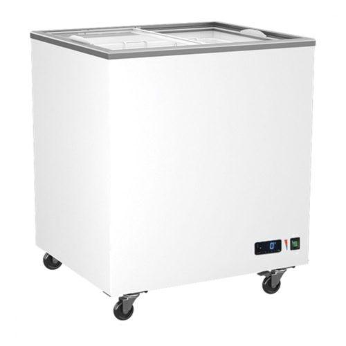 Tiefkühltruhe 208 Liter mit Glas-Schiebedeckeln, -14°/-24°C - Virtus - Gastroworld-24