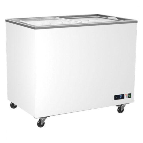 Tiefkühltruhe 314 (258) Liter mit Glas-Schiebedeckeln, -14°/-24°C - Virtus - Gastroworld-24