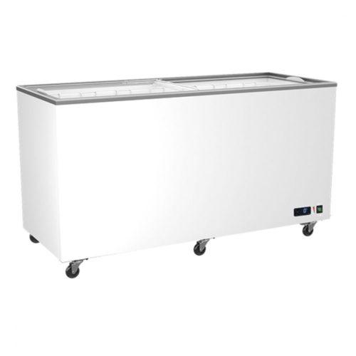Tiefkühltruhe 478 (400) Liter mit Glas-Schiebedeckeln, -14°/-24°C - Virtus - Gastroworld-24