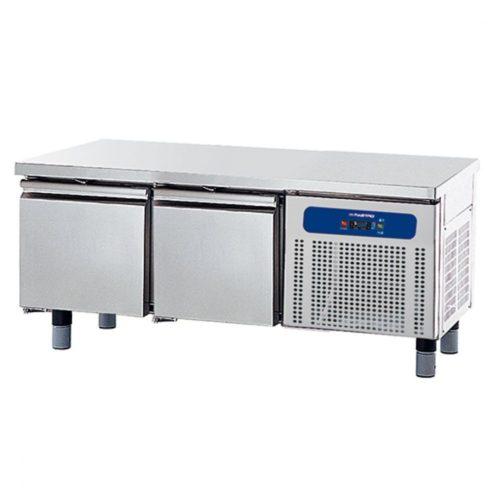 Tiefkühlunterbau mit 2 Schubladen 1/1 für Kochgeräte, B=1400 mm - Virtus - Gastroworld-24