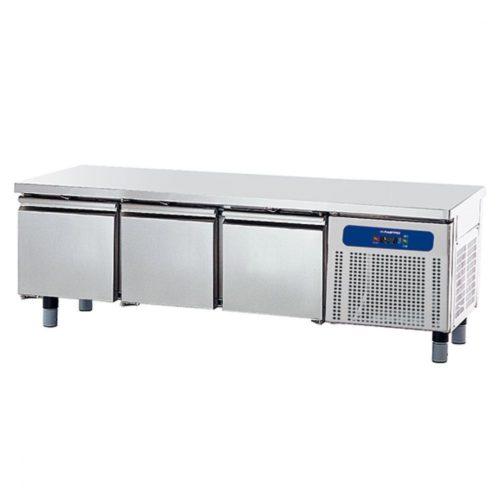 Tiefkühlunterbau mit 3 Schubladen 1/1 für Kochgeräte, B=1800 mm - Virtus - Gastroworld-24