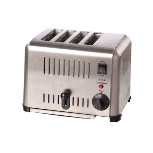 Toaster für 4 Toastscheiben, 300 x 225 x 215 mm, - GGG - Gastroworld-24