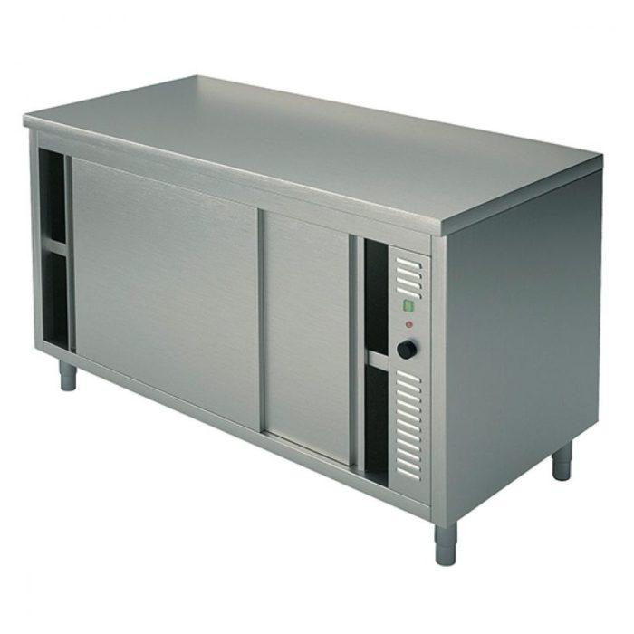 Wärmeschränk mit Schiebetüren, ohne Aufkantung, 1000x700 mm - Virtus - Gastroworld-24