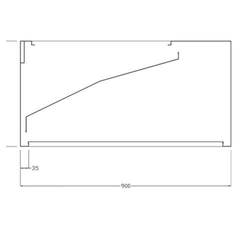 Wandhaube für Haubenspülmaschinen, 900x900 mm - Virtus - Gastroworld-24