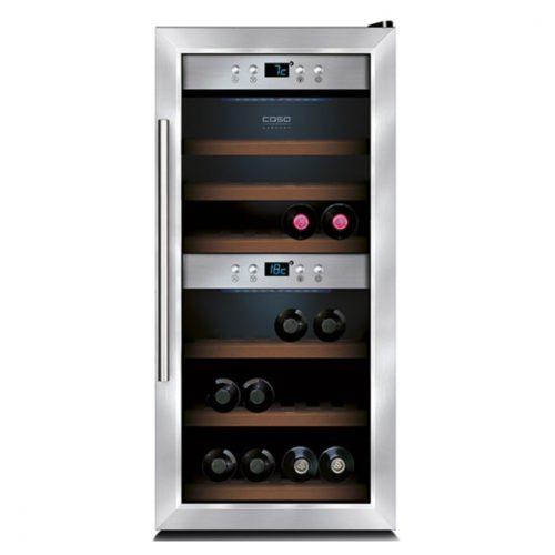 Weinkühlvitrine mit 2 Temperaturbereichen, 24 Flaschen, +5°/+20°C - Virtus - Gastroworld-24