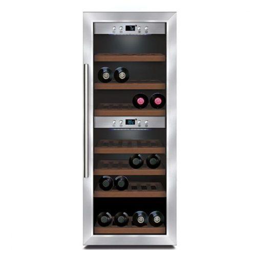 Weinkühlvitrine mit 2 Temperaturbereichen, 38 Flaschen, +5°/+20°C - Virtus - Gastroworld-24