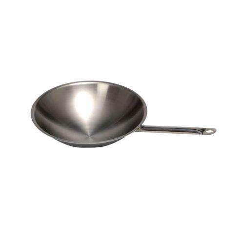 Wok Pfanne, Edelstahl, Ø 390 mm, 650x390x100 mm - GGG - Gastroworld-24