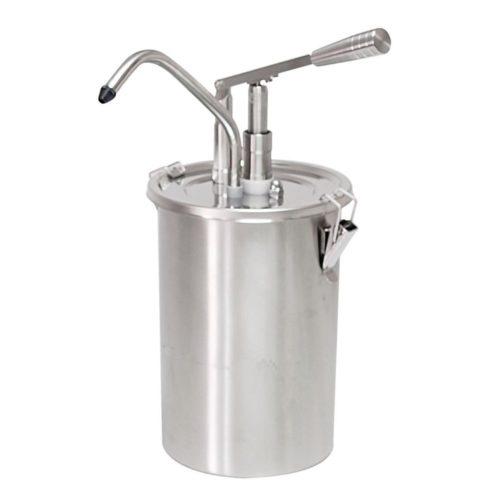 Zylindrischer Edelstahlhebel-Soßenspender, 180x420mm, - GGG - Gastroworld-24